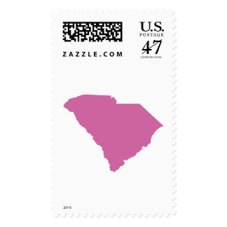 Esquema del estado de Carolina del Sur Sello Postal