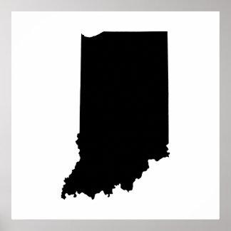 Esquema del estado de Indiana Póster