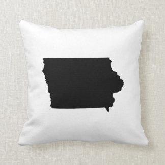 Esquema del estado de Iowa Almohada