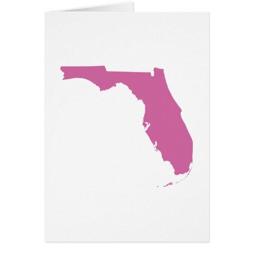 Esquema del estado de la Florida Tarjeta De Felicitación