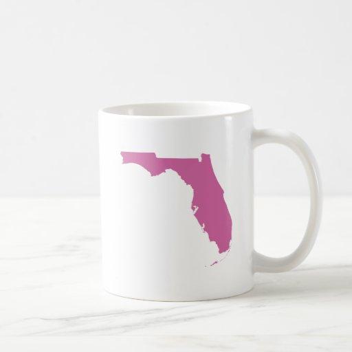 Esquema del estado de la Florida Taza Básica Blanca