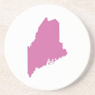 Esquema del estado de Maine Posavasos Para Bebidas