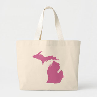 Esquema del estado de Michigan Bolsa Tela Grande