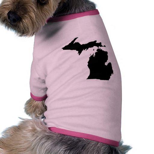 Esquema del estado de Michigan Ropa Perro
