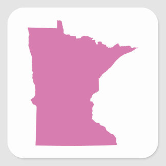 Esquema del estado de Minnesota Calcomanías Cuadradas Personalizadas