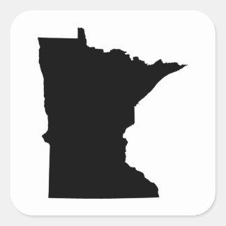 Esquema del estado de Minnesota Calcomania Cuadradas Personalizadas