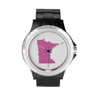 Esquema del estado de Minnesota Relojes De Mano