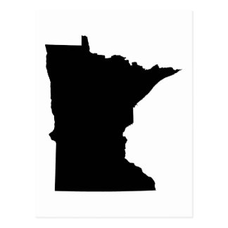 Esquema del estado de Minnesota Tarjetas Postales