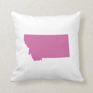 Esquema del estado de Montana Almohadas