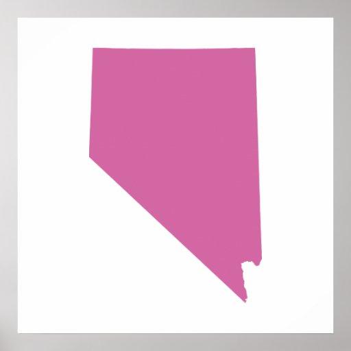 Esquema del estado de Nevada Poster