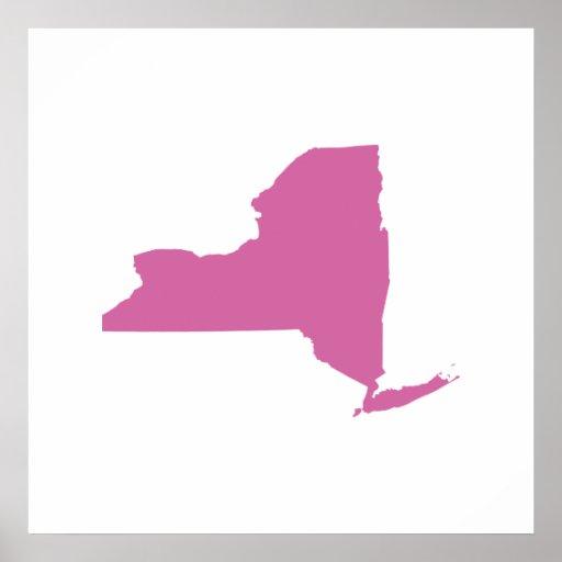 Esquema del Estado de Nuevo York Posters