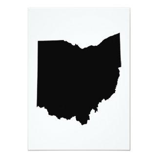 Esquema del estado de Ohio Invitación 12,7 X 17,8 Cm