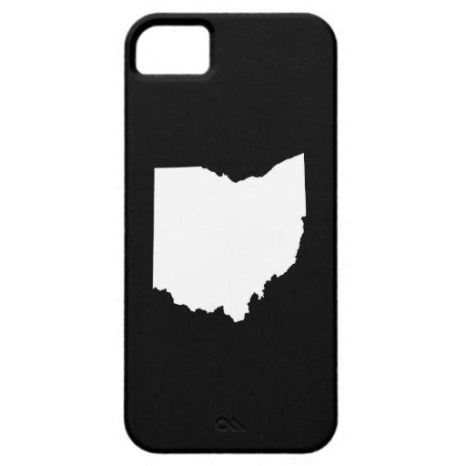 Esquema del estado de Ohio iPhone 5 Cárcasas
