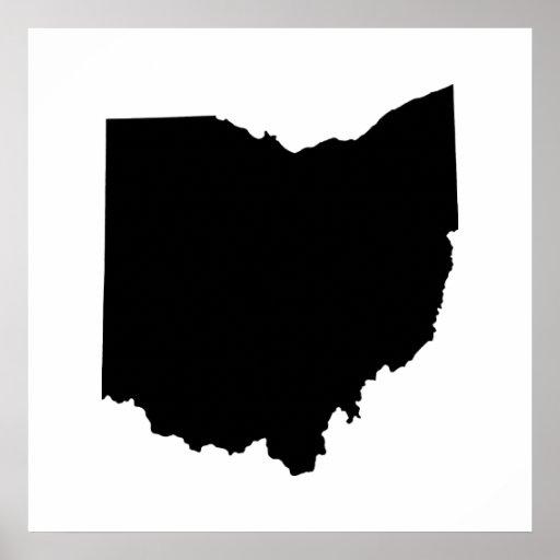 Esquema del estado de Ohio Posters