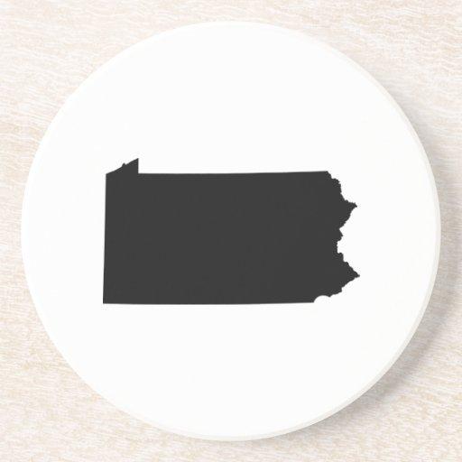Esquema del estado de Pennsylvania Posavasos Cerveza