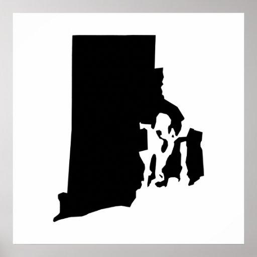 Esquema del estado de Rhode Island Poster