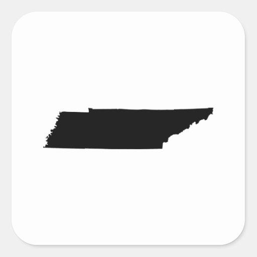 Esquema del estado de Tennessee Pegatina Cuadrada