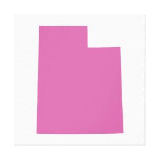 Esquema del estado de Utah Impresión De Lienzo