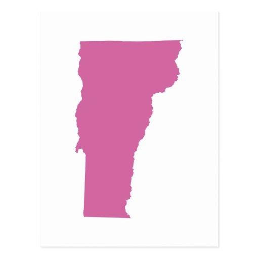 Esquema del estado de Vermont Postales