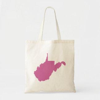 Esquema del estado de Virginia Occidental Bolsa Tela Barata