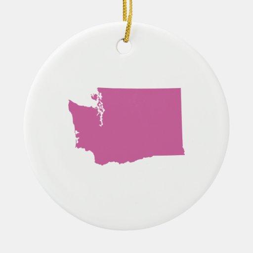 Esquema del estado de Washington Ornaments Para Arbol De Navidad