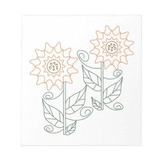 Esquema del girasol bloc de papel