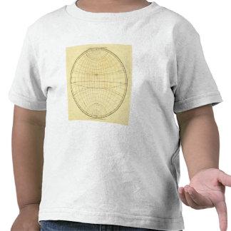 Esquema del hemisferio del este camisetas