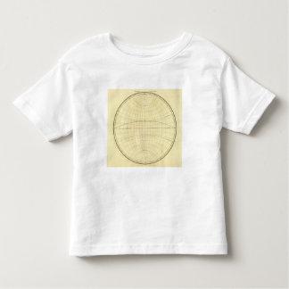 Esquema del hemisferio occidental t-shirts