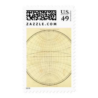 Esquema del hemisferio occidental sellos