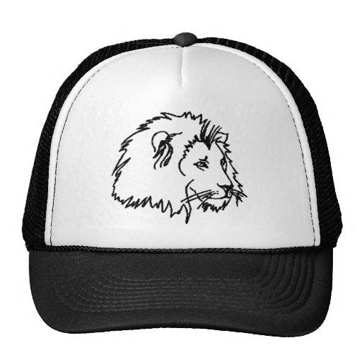 Esquema del león gorras