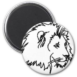 Esquema del león imán redondo 5 cm