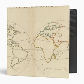 "Esquema del mapa del mundo carpeta 1 1/2"""