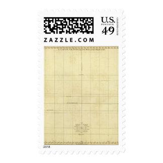 Esquema del mapa del mundo sello
