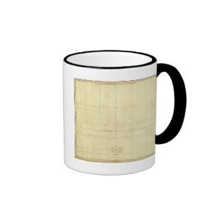 Esquema del mapa del mundo taza de café