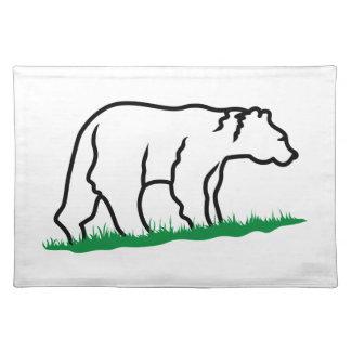 Esquema del oso manteles