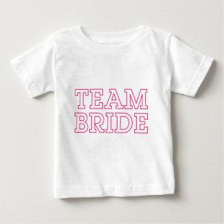 Esquema del rosa de la novia del equipo playera de bebé