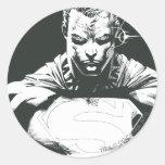 Esquema del superhombre pegatinas redondas