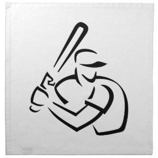 Esquema del talud del béisbol servilleta de papel