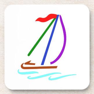 Esquema del velero posavaso