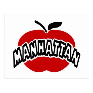 Esquema enrrollado de Manhattan cortado de Apple r Tarjetas Postales