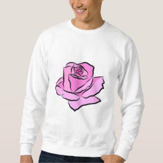 Esquema grueso pintado rosa rosado de las sombras sudadera