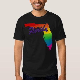 Esquema la Florida del estado del arco iris Playera