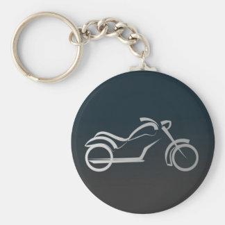 Esquema liso negro de plata de la moto de Motorcyl Llaveros