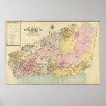 Esquema, mapa de índice el condado de Westchester Póster