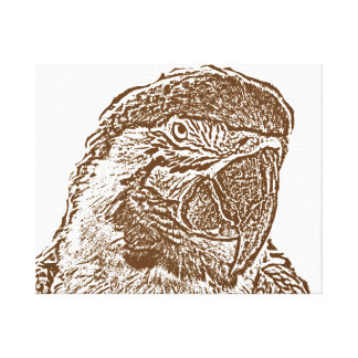 esquema marrón gráfico parrot.png de la opinión impresiones en lienzo estiradas