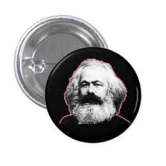 Esquema/negro rojos de Karl Marx Pin Redondo 2,5 Cm