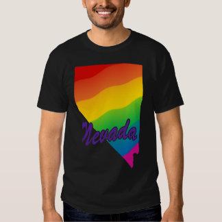 Esquema Nevada del estado del arco iris Camisas