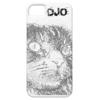 Esquema personalizado de la cara del gatito funda para iPhone SE/5/5s