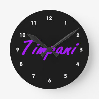esquema purple.png del negro del texto del timpani reloj redondo mediano