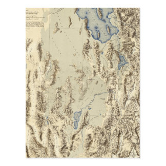 Esquema restaurado del lago Bonneville Postal